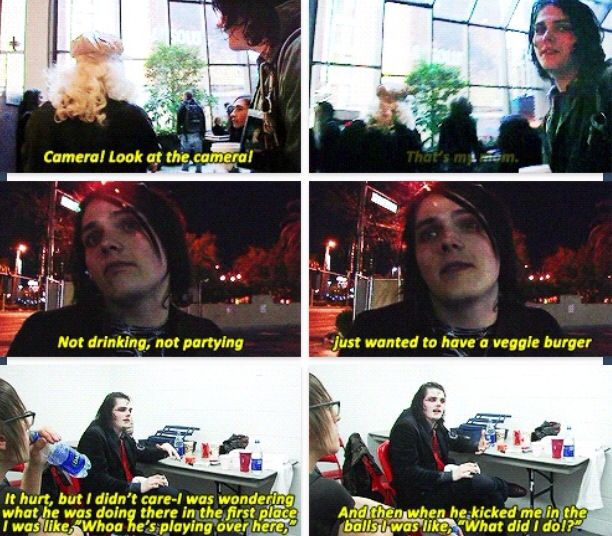 Gerard Way   Life on The Murder Scene Funny moments