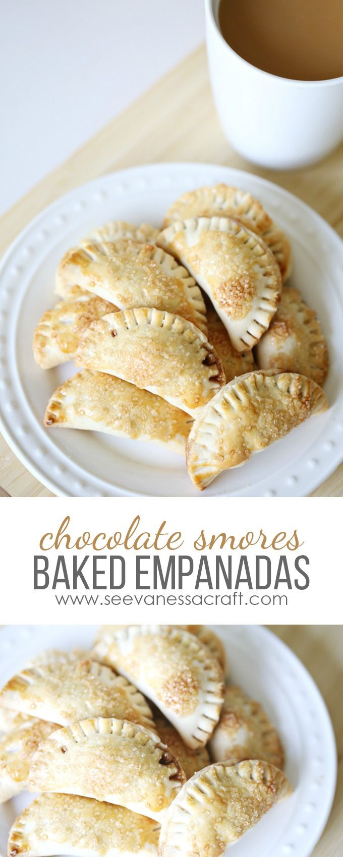Mini Chocolate S'mores Baked Easy Empanadas Dessert Recipe #GustoNestle #ad