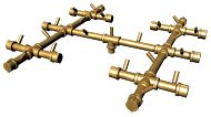 250K BTU Crossfire Brass Burner