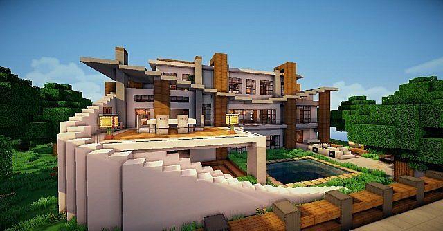 Minecraft Villa Minecraft Haus Bauplan Minecraft Haus Bauen Und