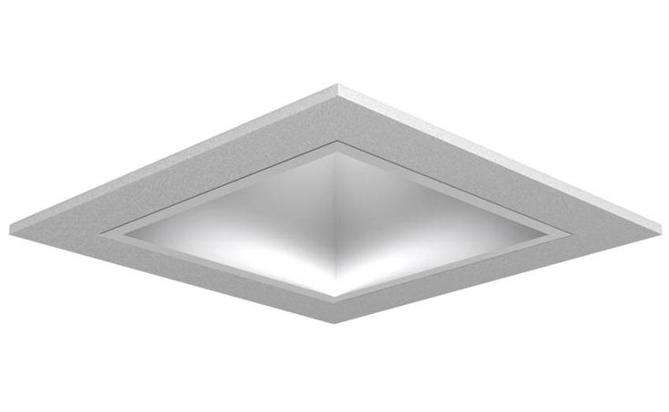 LETO 9 Fixed Recessed Fixture with Square Reflector