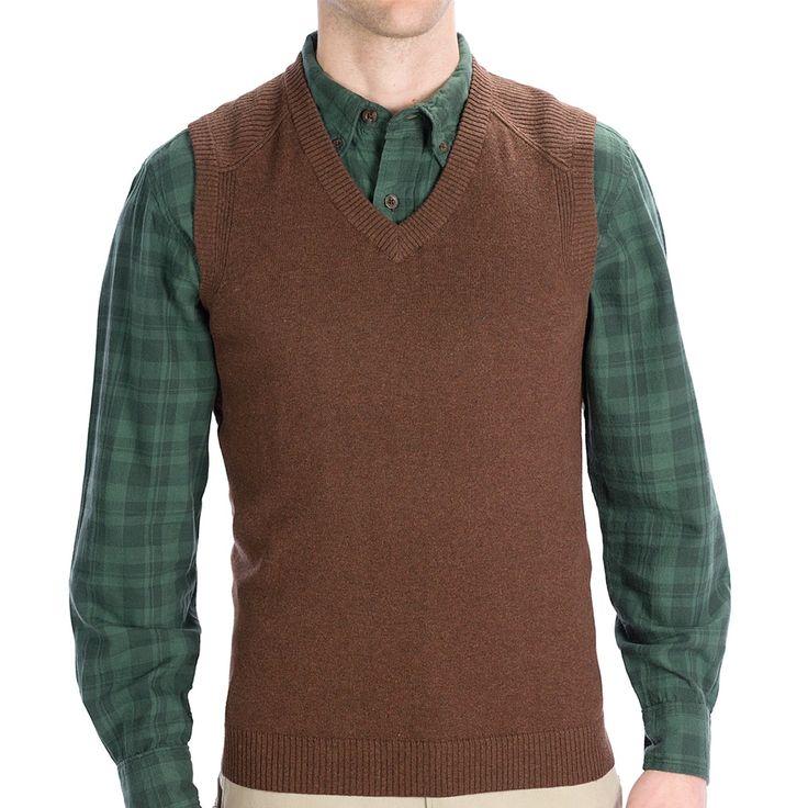 Woolrich Departure Sweater Vest (For Men) - Save 52%