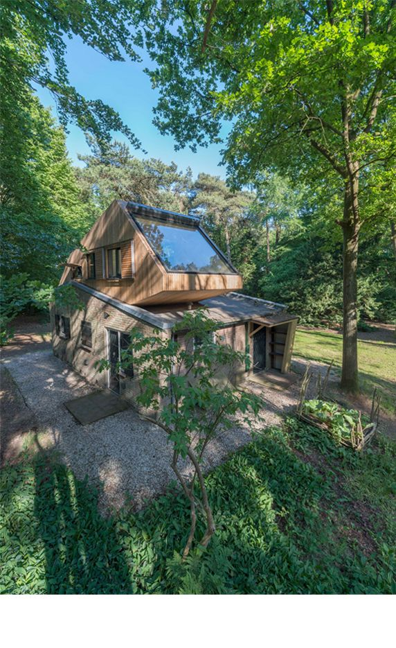 Transformation holiday house in the forest