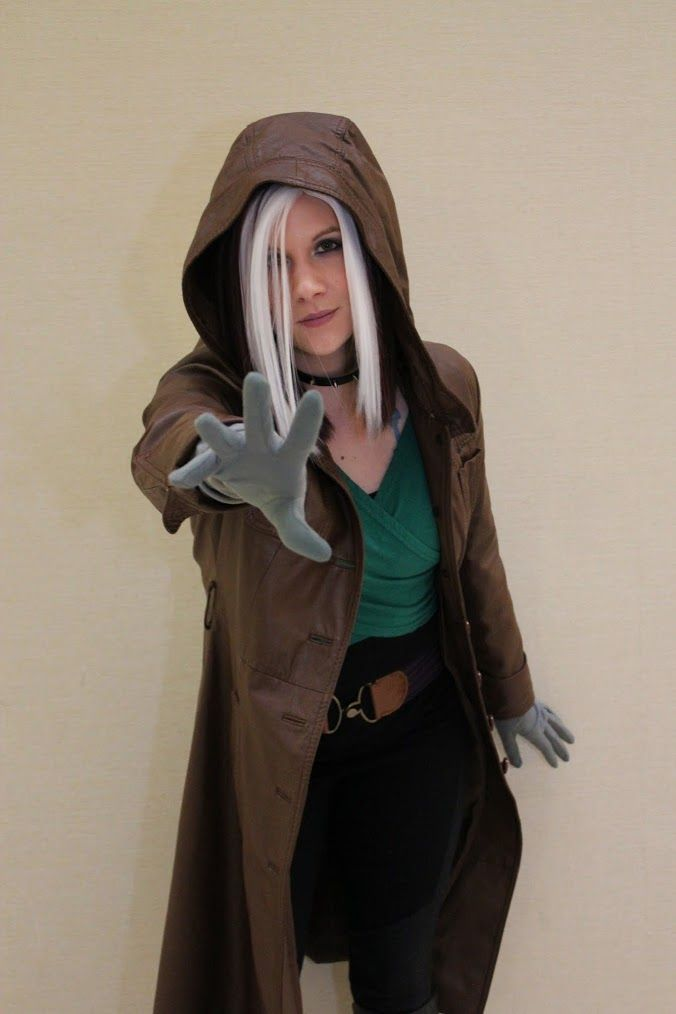 #6 Rogue from X-Men Evolution, all grown up! Easy rogue, I think I would wear green dress, black leggings, brown belt, brown leather like jacket, boots, black gloves and black jewelry