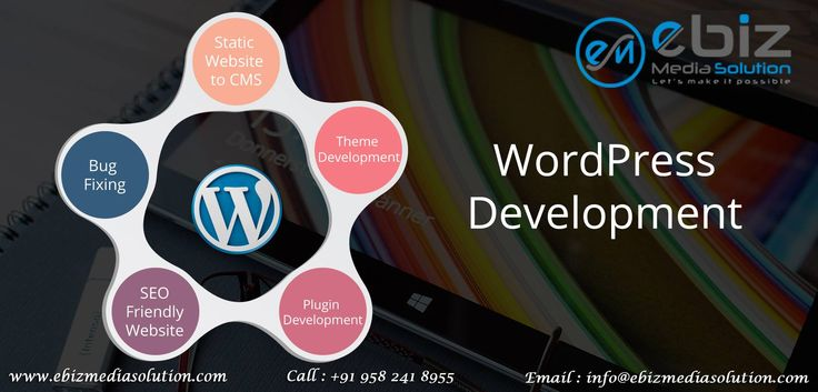 Are you searching for Word Press Development firm that can help you plan and develop a successful website? Well look no further. Ebiz Media Solution Pvt. Ltd. offer a Customized Website that you can maintain easily including its content, images, multimedia and other crucial data easily. Our dedicated team keep themselves updating with latest technologies and market trends that enable them to deliver unique Word Press Solution. Let's make something great together @ +91 958 241 8955