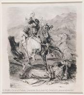 Combat of the Giaour and the Pasha, Eugène Delacroix | Louvre Museum | Paris