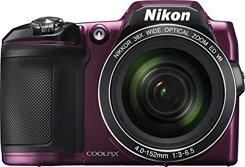 Nikon COOLPIX L840 16.0-Megapixel Digital Camera with 76x dynamic fine zoom, 38X optical zoom VR lens (4.0-152mm) and built-in WiFi - Plum (Certified Refurbished) - http://cameras.nationalsales.com/nikon-coolpix-l840-16-0-megapixel-digital-camera-with-76x-dynamic-fine-zoom-38x-optical-zoom-vr-lens-4-0-152mm-and-built-in-wifi-plum-certified-refurbished/