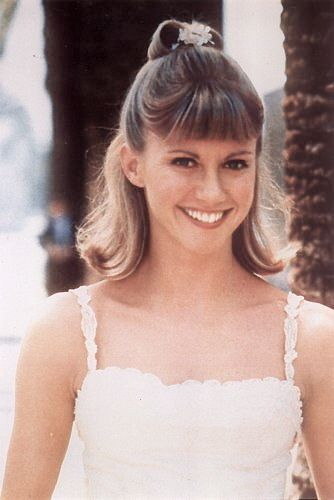 Olivia Newton-John from the dance in Grease.  I even cut my bangs.