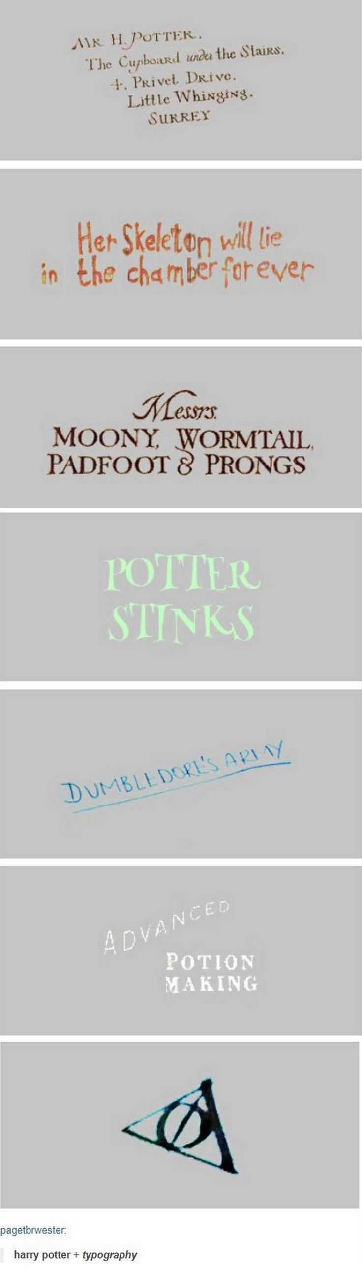 Harry Potter and typography