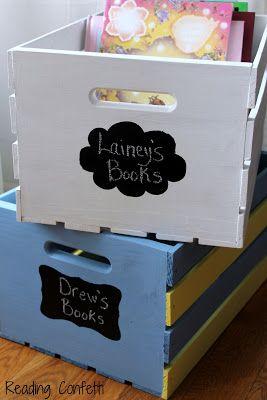 DIY book storage crates