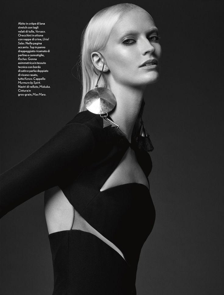 #VersaceEditorials - Iconic #Versace elegance. Amica Italy - December '15  Stylist - Paolo Turina Photo - NICOLAS VALOIS