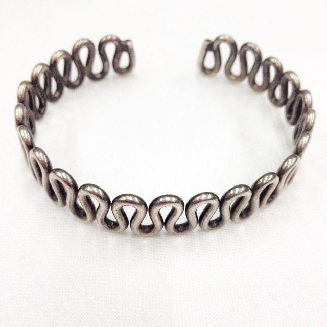 Sterling cuff bracelet.
