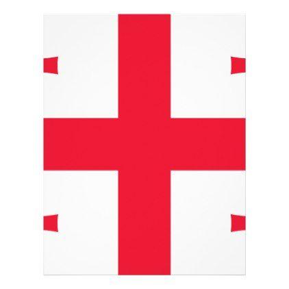 #Georgia Flag Letterhead - #travel #office #gifts