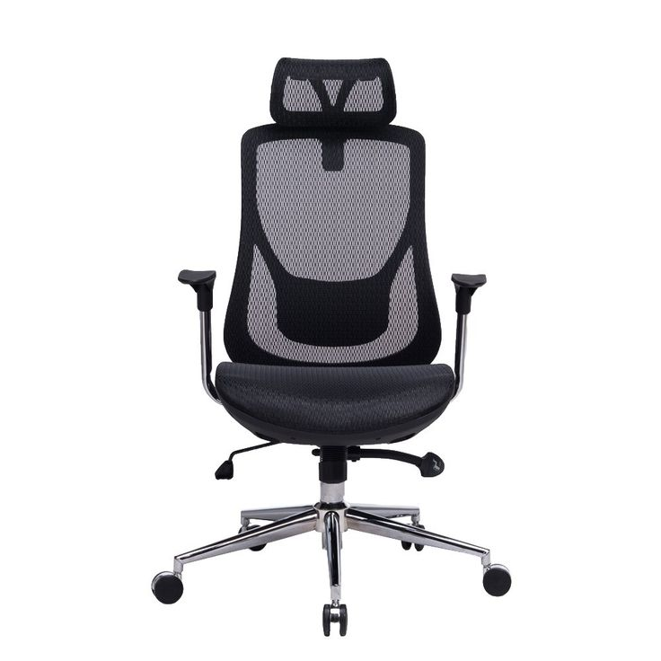 high back mesh office chair with leather effect headrest. amazon: viva office high back mesh chair, executive\u0026 managerial chair with adjustable headrest, office leather effect headrest