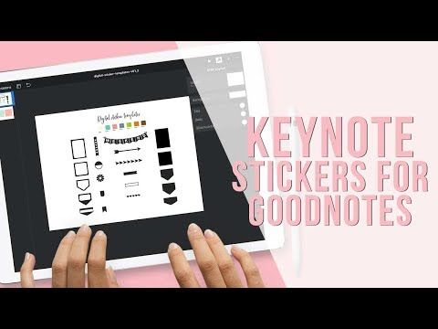 How to Use KeyNote to Create Digital Stickers for GoodNotes