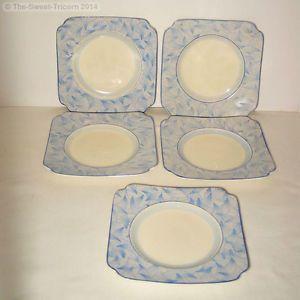 5 x Square Side Plates, Royal Doulton Art Deco 'Envoy' Pattern, D5423 . | eBay