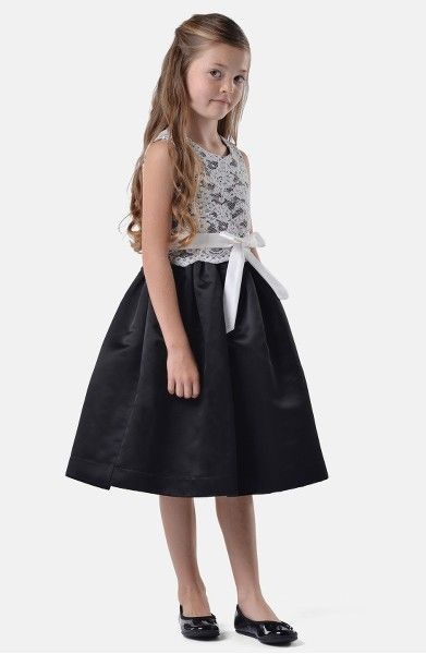Main Image - Us Angels Lace Dress (Infant, Toddler, Little Girls & Big Girls)
