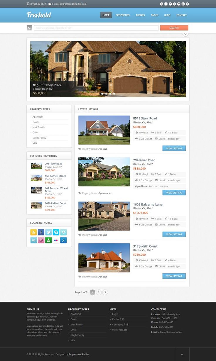 Show off your work with this easy-to-customize and fully featured Real Estate Theme. When purchasing this theme, you will receive a detailed...
