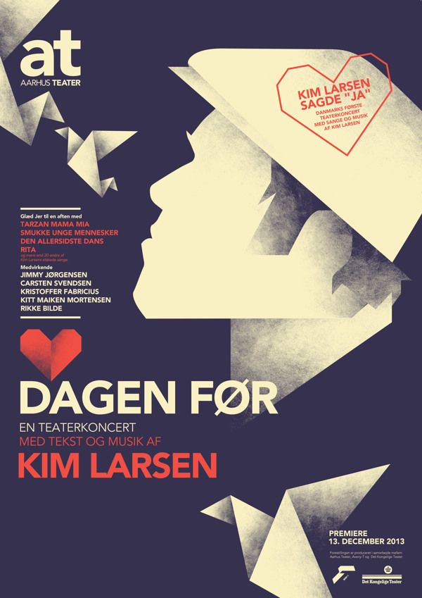 The Day Before - Kim Larsen Theater in Art Deco Posters by Mads Berg