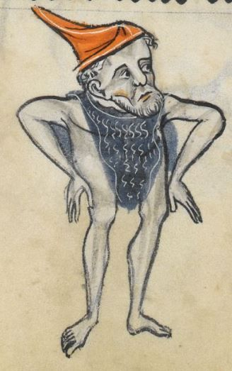 "Detail from ""The Rutland Psalter"", medieval (c1260), British Library Add MS 62925. f 49v"