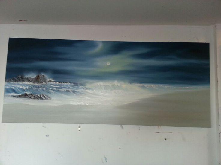 Moonlight seascape phase 1