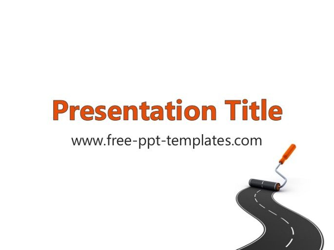 Free Road Construction Concept Powerpoint Template Powerpoint Templates Powerpoint Templates