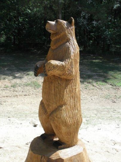Bear chainsaw carving pinterest