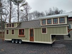 This is a super long Timbercraft 37′ Tiny House on Wheels for sale in Alabama that looks like home. Built on a gooseneck trailer, it has an awesome bedroom you can stand in and more: The farm…