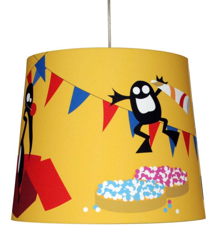 Vreemde-Vogels kinderlampen. Hier lamp Feest. Keuze uit 5 vrolijke Chintz lampen. De Vreemde Vogels stimuleren de fantasie van ieder kind
