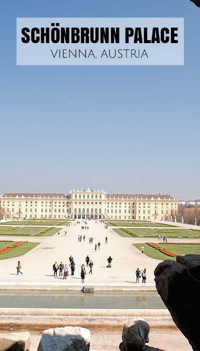 Beautiful gardens of Schonbrunn Palace in Vienna, Austria.