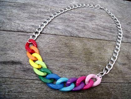 Rainbow necklace by FSB Jewellery