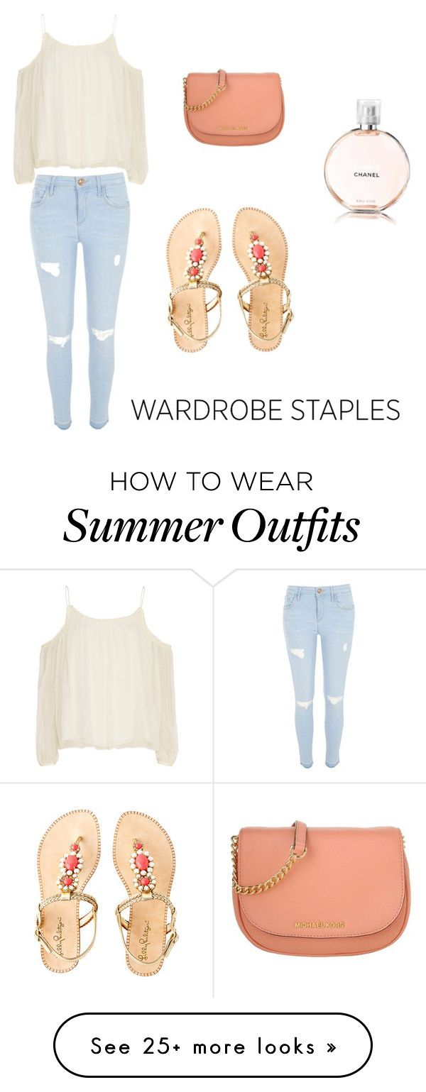"""Summer outfit "" by truebella-1 on Polyvore featuring Elizabeth and James, River Island, Michael Kors, Lilly Pulitzer, Chanel and WardrobeStaples"