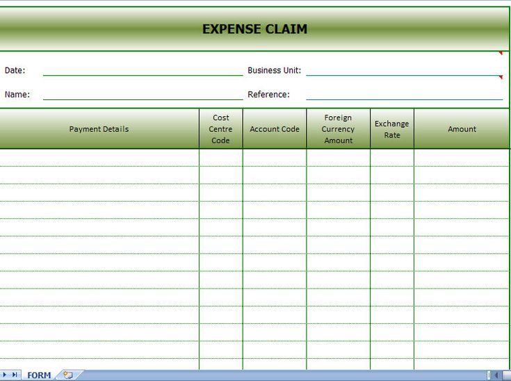 expenses claim form sample expense claim Pinterest – Sample Expense Form