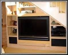 entertainment center built under staircase - Bing Images