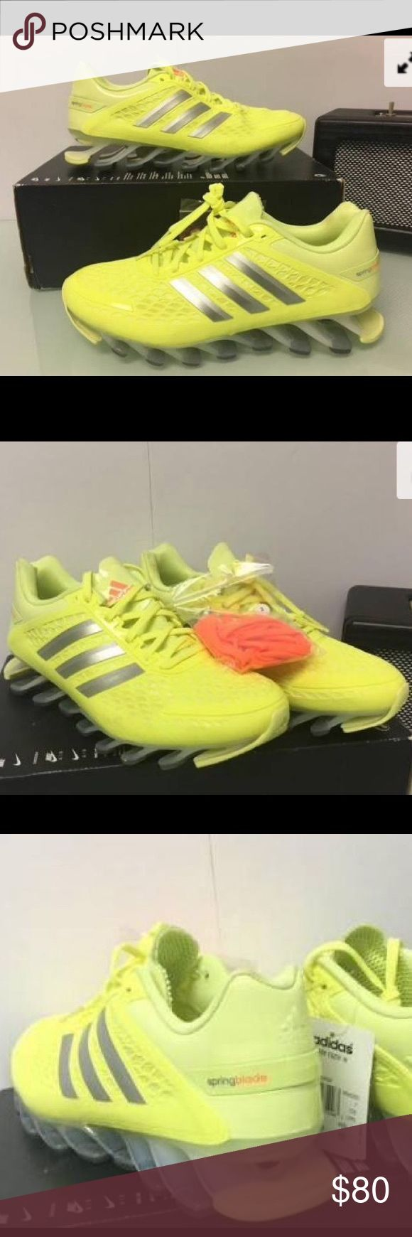 Adidas Spring Blade Razor  Running Women's The ADIDAS SPRINGBLADE RAZOR WOMENS RUNNING SHOE                                          Designed with transparent blades, feel like you're running on air.                                                    * New w//o Box * Synthetic and Mesh * Rubber sole *Breathable mesh upper * Comfortable textile lining adidas Shoes Athletic Shoes