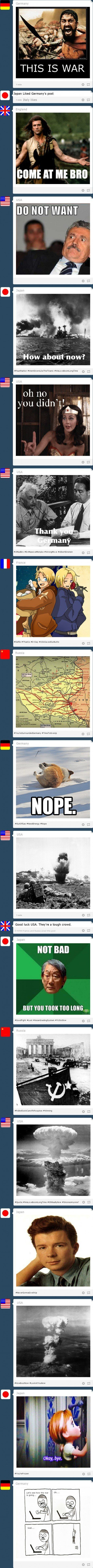 If world war two was just a fight on tumblr