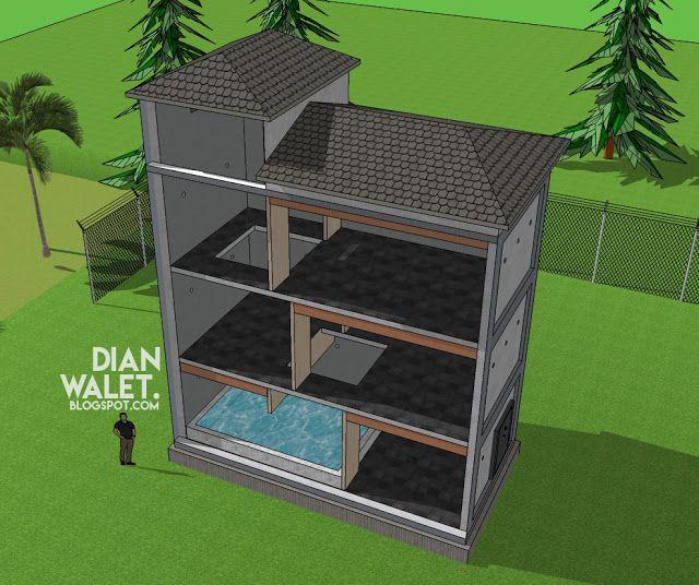 Desain Gedung Walet Rbw 4x8 Desain Rumah Desain Rumah Burung