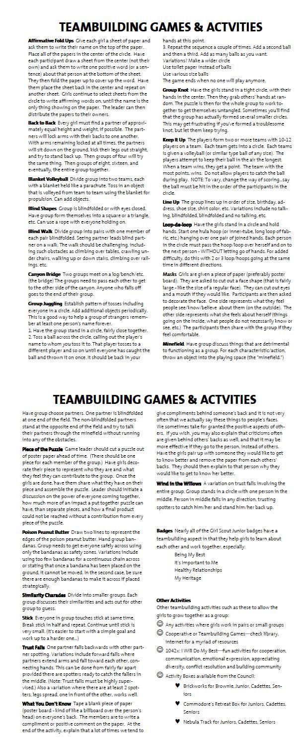 Team Building Games & Activities