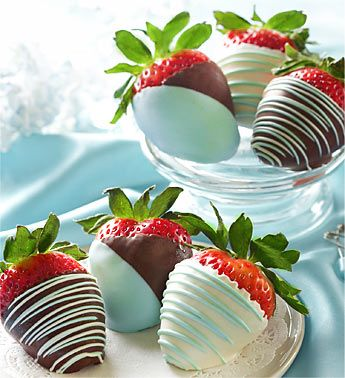 Baby Blue Chocolate Covered strawberries