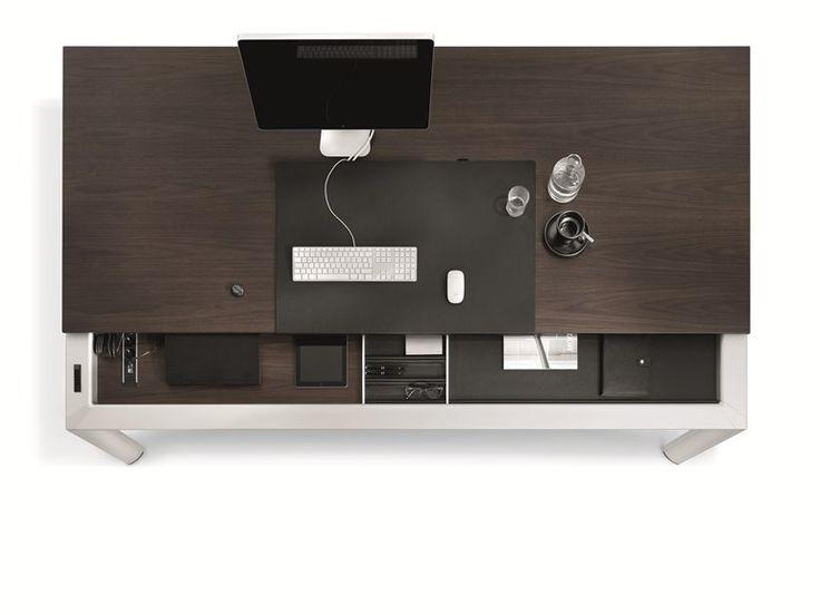 Rectangular Office Desk AL Executive Office By BENE Design Kai Stania