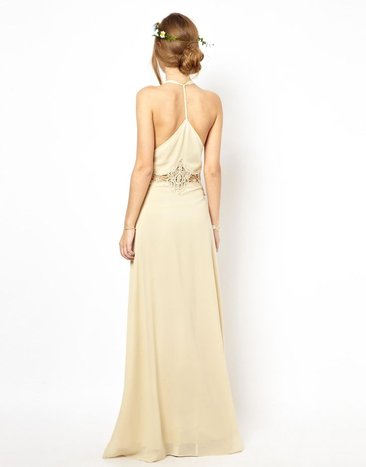 Image 2 ofJarlo Cami Strap Maxi Dress with Lace Insert