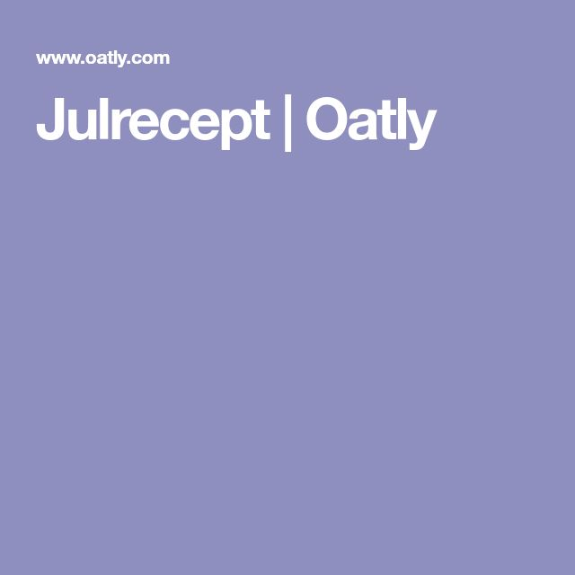 Julrecept | Oatly