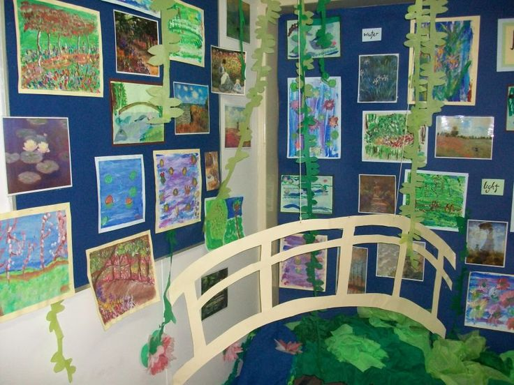 I love this 3D Monet display - Kirkstall Valley Primary School