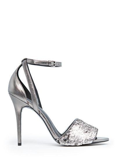 MANGO - Schoenen - Metallic sandalen met pailletten