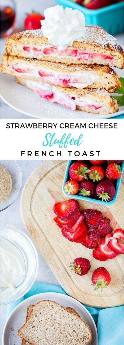 The EASY version!! Make it healthy or make it for a big crowd, I've got you covered! #breakfast #stuffedfrenchtoast #recipes