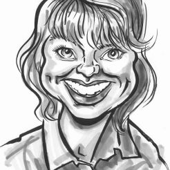 OVER THE PAST year Ridgemount PR has commissioned black and white caricatures of their staff to frame and display on the wall of their office.
