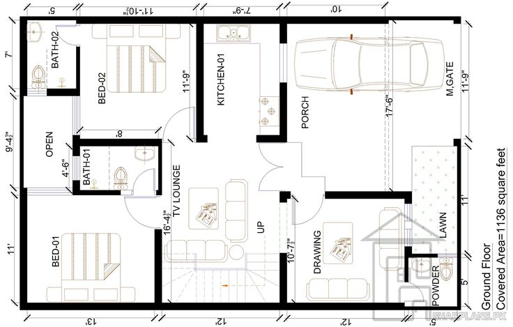 23 best house plans images on pinterest house floor for 35x60 house plans