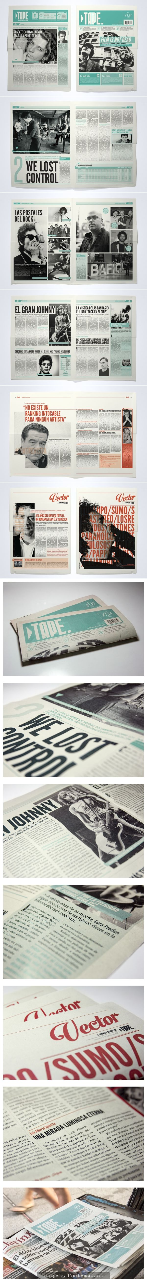 TAPE Newspaper by Juan Ignacio Roldán Nieva