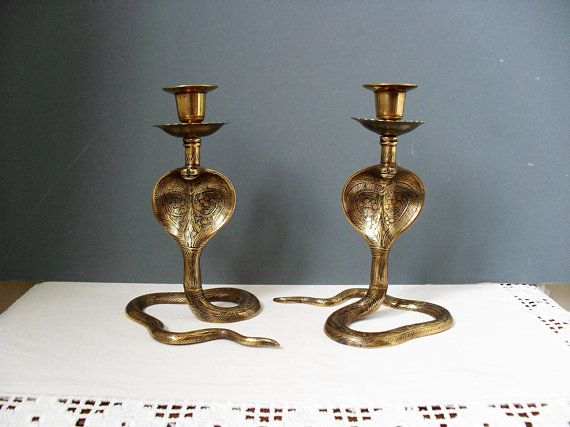 Home Accessory Vintage Brass Candle Holder Unique Antique Candle Holder Vintage Candlestick Vintage Accessory Retro Style
