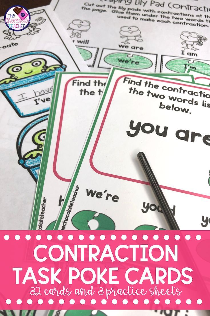 medium resolution of Are you looking for a fun and engaging language arts contraction activity?  These game like task cards a…   Task cards